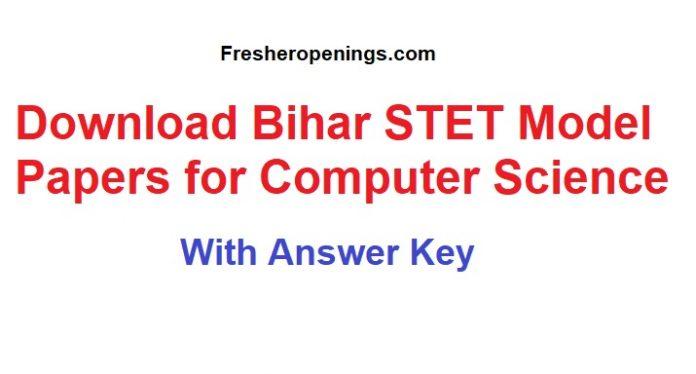 Bihar STET Computer Science Question Paper